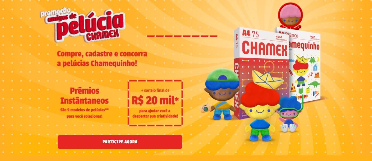 Promoção CHAMEX 2021 Amigos de Pelúcia