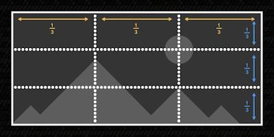 صورة مقسمة ثلاثة أثلاث لشرح قاعدة الأثلاث