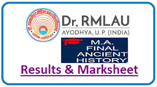 RMLAU MA Ancient History, Culture & Archaeology Final Result 2021