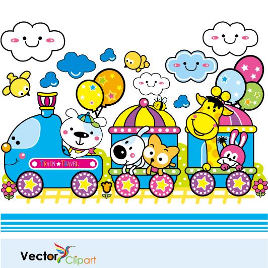 Trenecito infantil - Vector