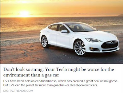 Electric cars worse than gas for environment?