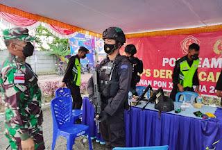 Yakinkan PON XX Papua Cluster Timika Aman, Danrem 174 Merauke Cek Pasukan Pengamanan