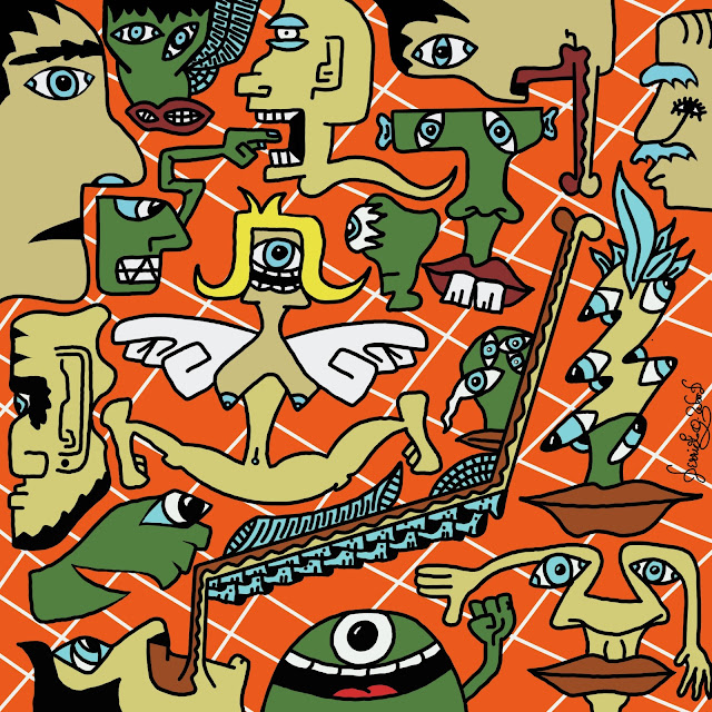 digital art called congregation of crazy characters