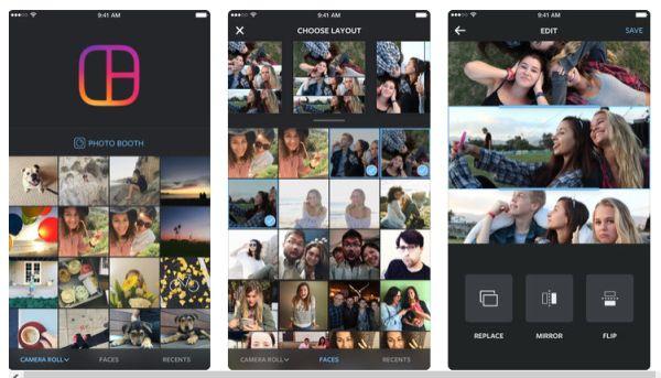 Layout From Instagram App Per Fare Collage Di Foto Su