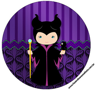 Maleficent Baby Party: Free Printable Cupcake Toppers and Wrappers.