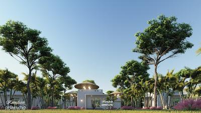 รีสอร์ทสไตล์เมดิเตอร์เรเนียน, Mediterranean style Resort, เจ้าของอาคารมณเฑียร สนั่นวรเกียรติ  สถานที่ก่อสร้างแขวงพลับพลา เขตวังทองหลาง กทม.
