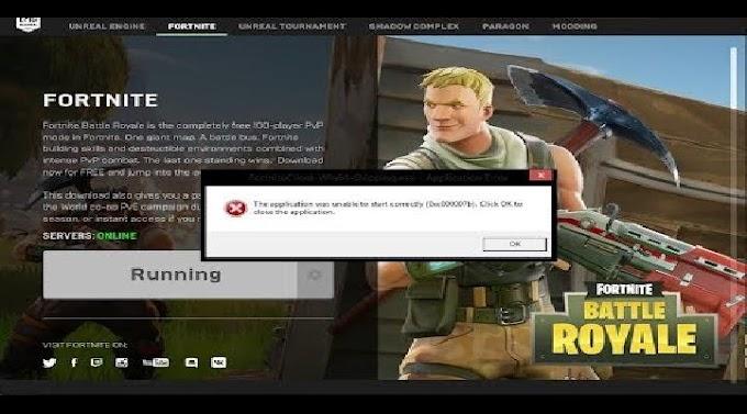 Fortnite: Como corrigir o erro 0xc000007b