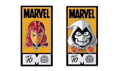 Black Widow Marvel Portrait Enamel Pins by Tom Whalen x Mondo