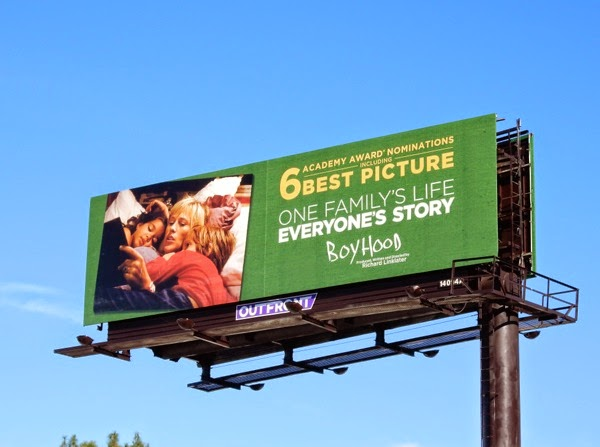Boyhood Oscar nominee billboard