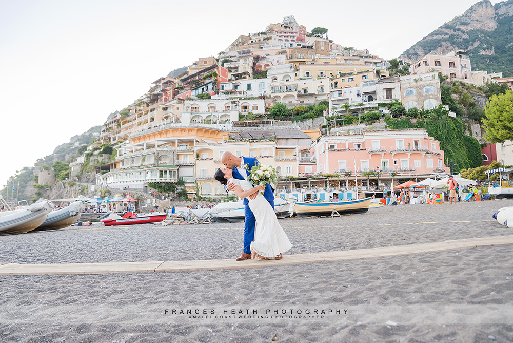 Wedding on Positano beach