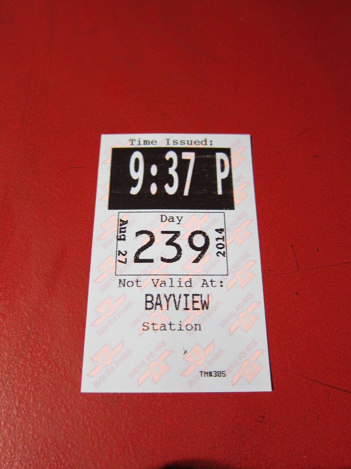 Bayview Station transfer