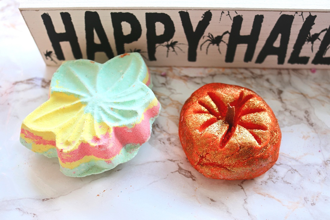 LUSH Halloween Collection Haul 2016 Autumn Leaf & Sparkly Pumpkin