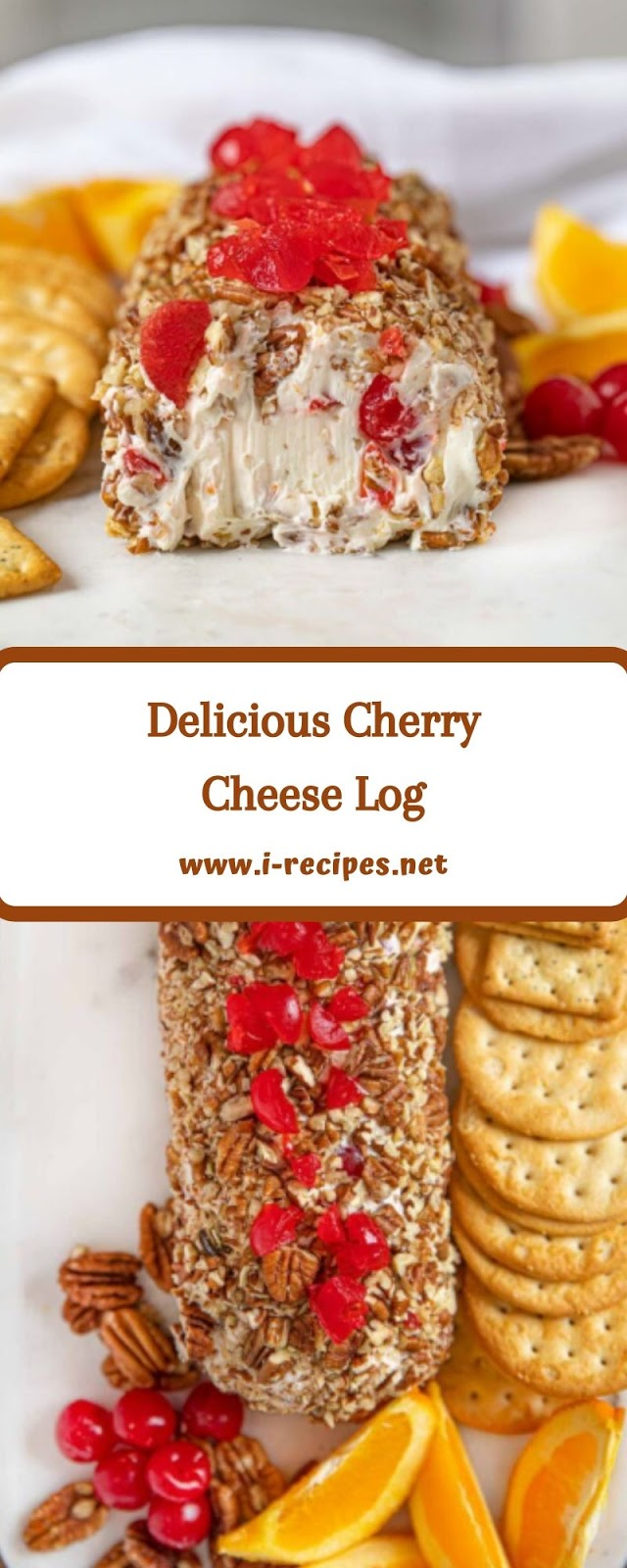 Delicious Cherry Cheese Log