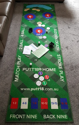 Putt18 indoor putting mat game