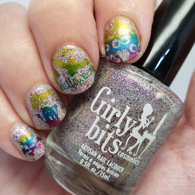 indie polish, girly bits, clear jelly stamper, nail art
