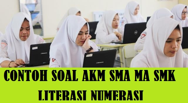 Latihan Contoh Soal AKM SMA MA SMK tentang Literasi Numerasi