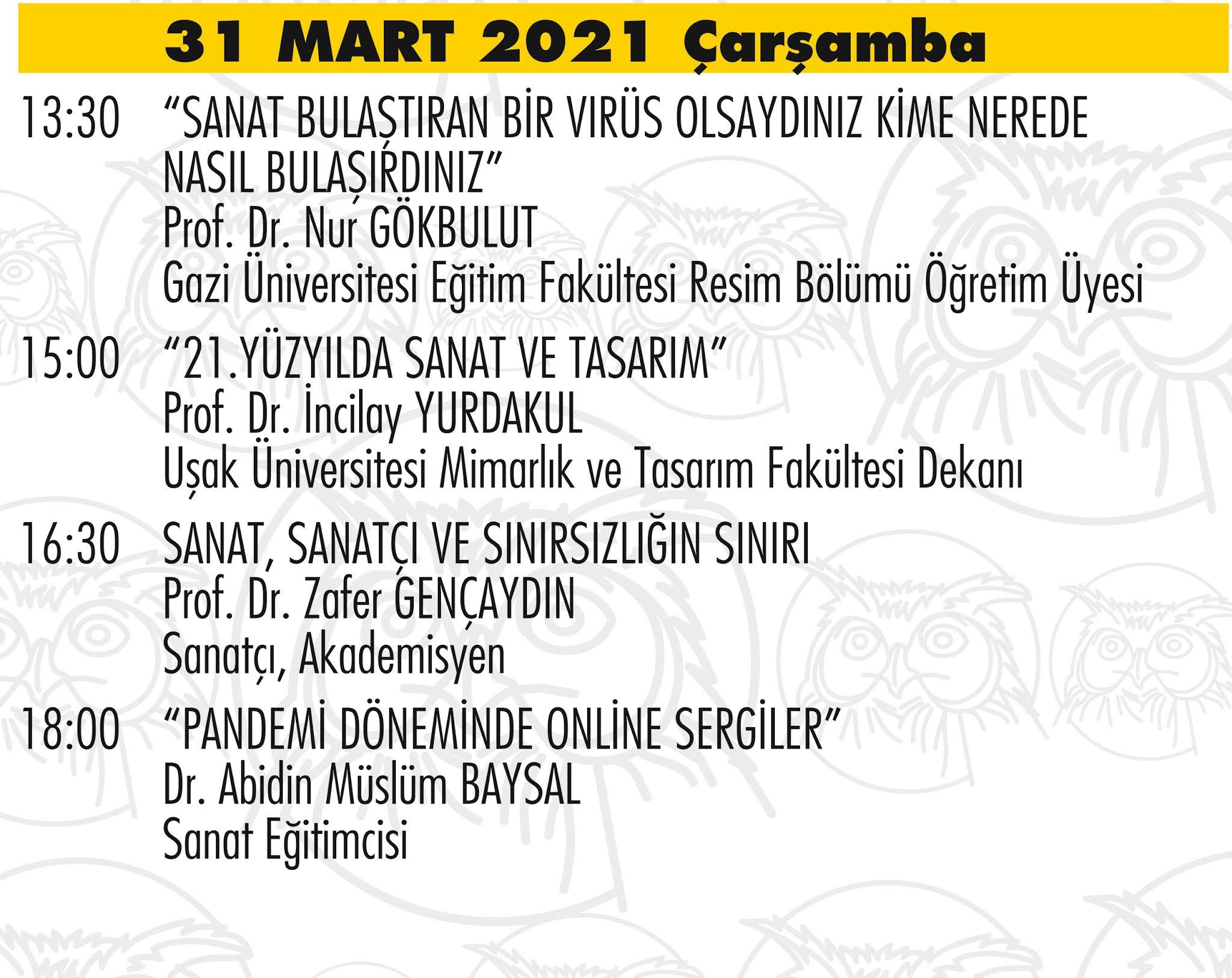 Art Ankara 2021 Etkinlik Programı