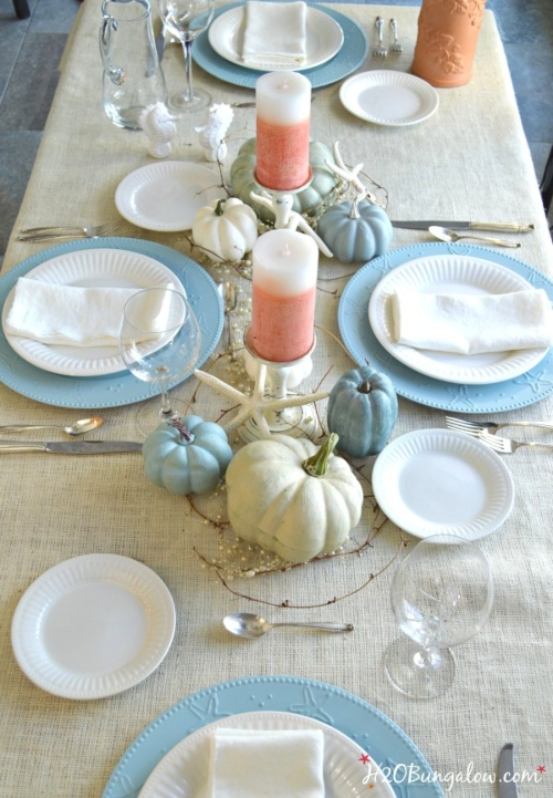 Coastal Thanksgiving Holiday Table