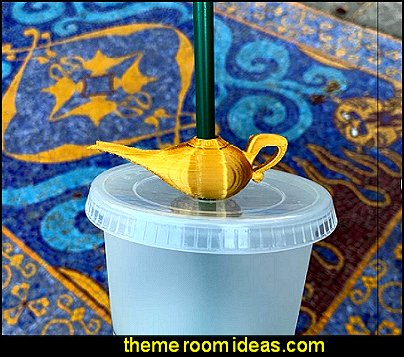 Genie Lamp Straw Topper aladdin party decorations arabian nights party decorations