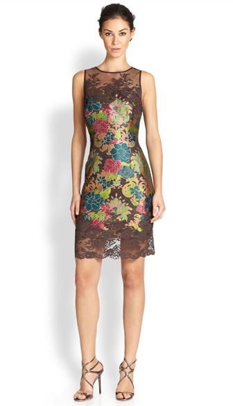 Model Dress Pesta Brokat Pendek Modern
