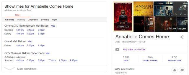 Fakta Film Annabelle Comes Home