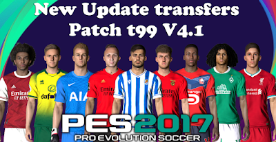 PES 2017 Option File for T99 Patch 4.1 Season 2020/2021