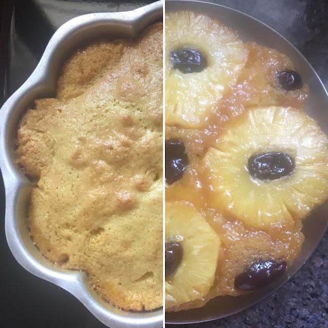 Pineapple dates upside down cake
