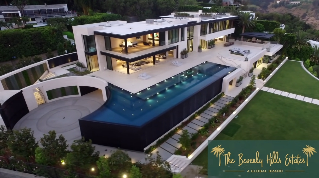 71 Interior Design Photos vs. 908 Bel Air Rd, Los Angeles, CA Ultra Luxury Mega Mansion Tour