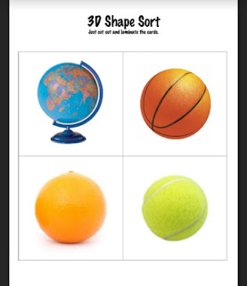 3D Shape Sort {Freebie}