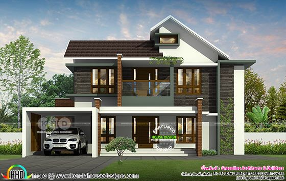 4 bedroom, 2500 sq-ft modern contemporary house