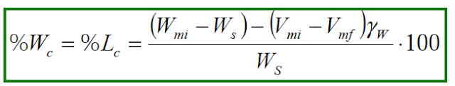fórmula del límite de contracción