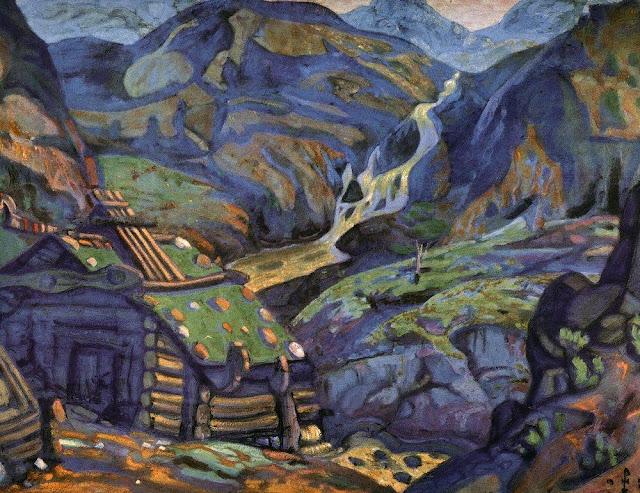 Николай Рерих - Мельница в горах. 1912