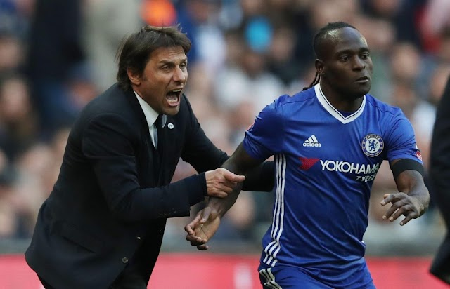 Moses Set to Rejoin Conte As Inter, Chelsea Agree €10m Transfer Fee
