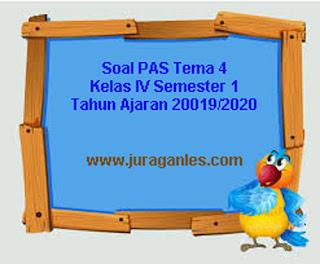 Contoh Soal PAS / UAS Tema 4 Kelas 4 SD/MI Semester 1 K13 T.A 2019/2020