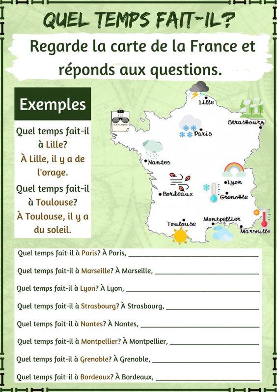 Pogoda - ćwiczenie 4 - Francuski przy kawie