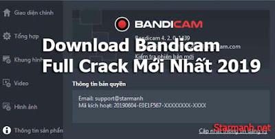 Tải Bandicam Full Cr@ck Mới Nhất 2019