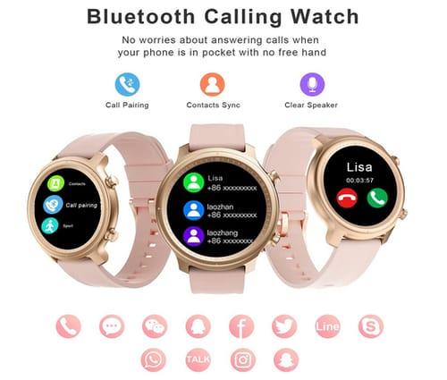 Efolen Fitness Tracker Bluetooth Call Smartwatch