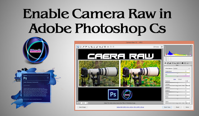 Enable Camera Raw in Adobe Photoshop Cs