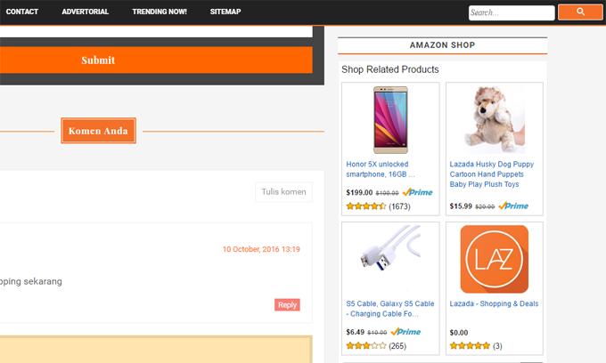 Widget Kedai Amazon