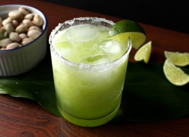 Honeydew Margaritas #drinks #cocktails