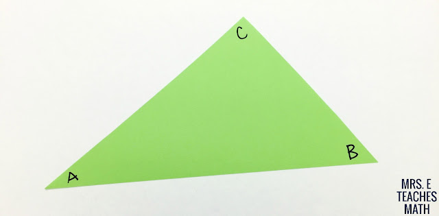 Midsegments in Triangles Paper Folding Activity