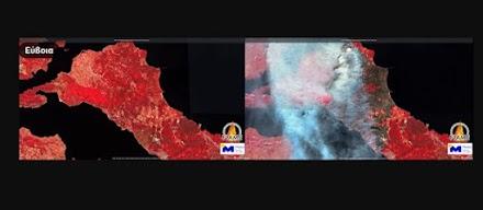 Νέες δορυφορικές φωτογραφίες απο τις καμμένες εκτάσεις