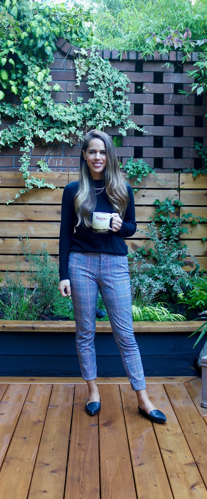Jules in Flats - Plaid Ankle Pants (Business Casual Workwear on a Budget)