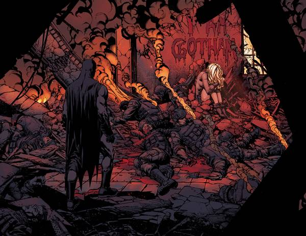 Arte de David Finch en Batman: Yo soy Gotham