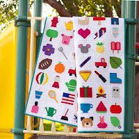 I Spy paper pieced quilt