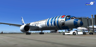 Boeing 787-9 in a special Star Wars ANA livery