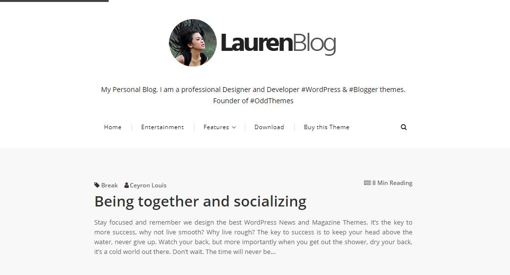Lauren v1.0 - Responsive Blogger Template