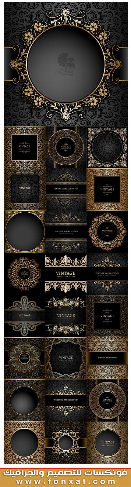 Download Images Vector old golden frames