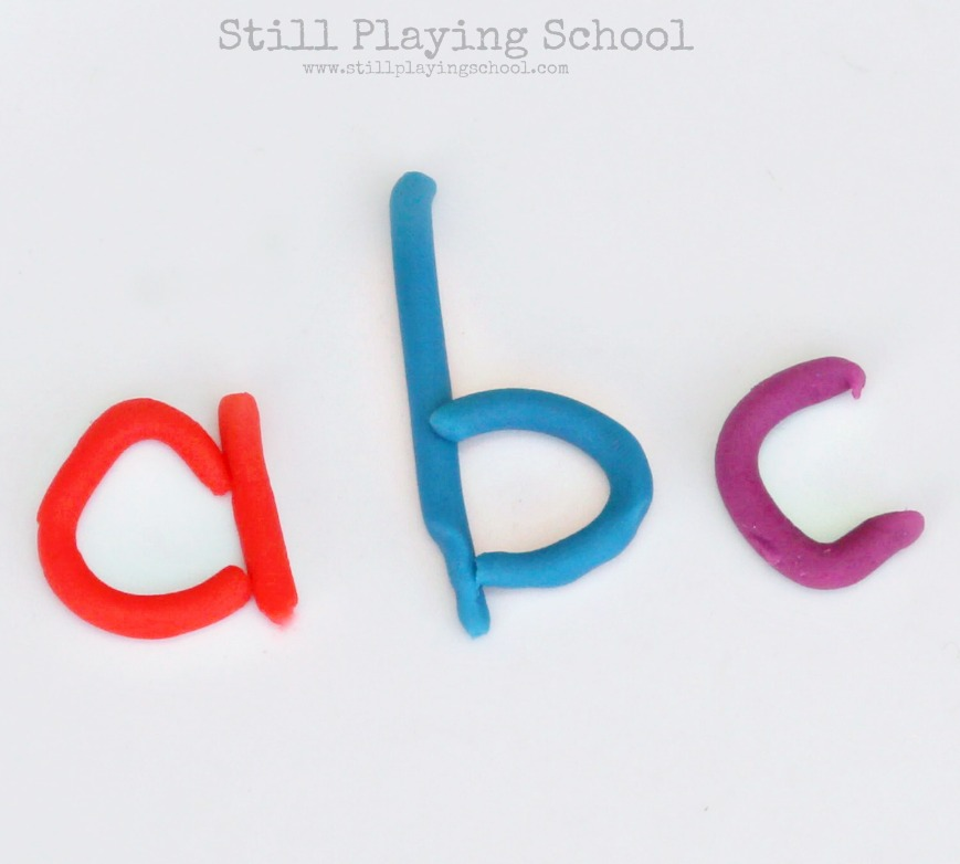 Letter formation with play dough still playing school for Playdough letter cutters