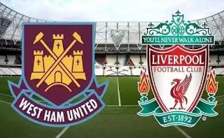 west ham vs liverpool pertandingan trunda pekan ke 18